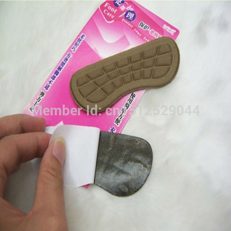 100 Pairs Fabric Faced Foot Care Feet Insoles Invisible Cushion Silicone Gel Anti-Slip Heel Liner Shoe Pads 2 pairs gel silicone shoe pad insoles women s high heel cushion protect comfy feet palm care pads accessories