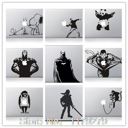 Art Black Cartoon sticker For Apple Macbook Pro 13 15 Inch with retina display Skin Decal Vinyl Cover For Macbook Air 13,3″ 13