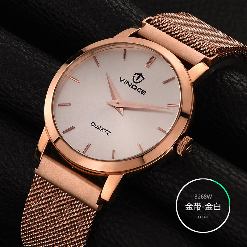 ФОТО Watch Men 2017 VINOCE Top Brand Luxury Famous Male Clock Quartz Watch steel Mesh strap Wrristwatch Relog Relogio Masculino