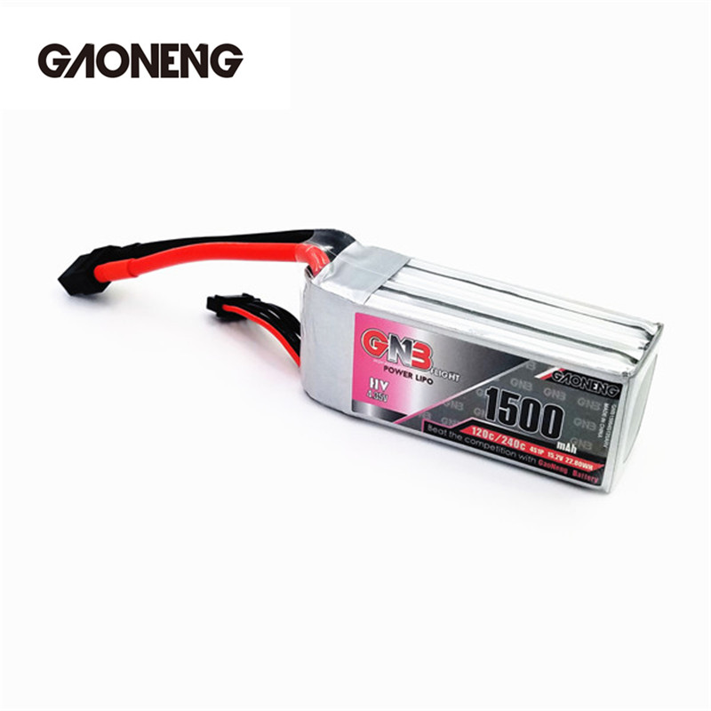 GaoNeng GNB 4S 15.2V 1500mAh Lipo Battery Rechargeable XT60 Plug Connector for RC Model Power Accessories Multicopter 1s 2s 3s 4s 5s 6s 7s 8s lipo battery balance connector for rc model battery esc
