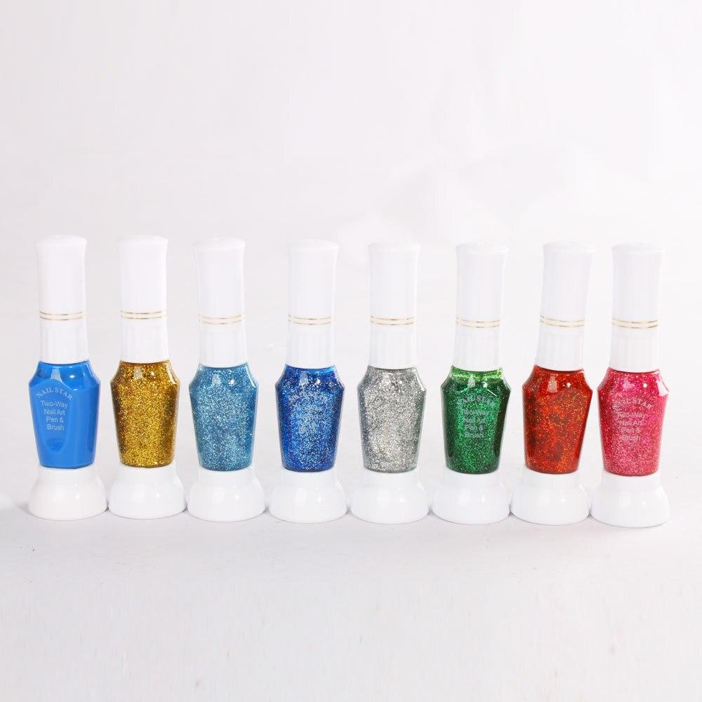 16 Colors Nail Art Pen Set 3d Diy Decoration Polish Gel Painting Nails Equipment