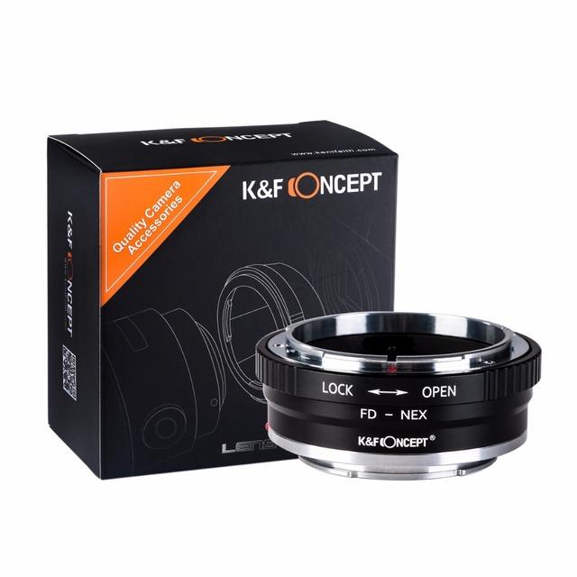 K & F CONCEPTO de Alta precisión para FD-NEX Lente Adaptador de Montaje para Canon FD montaje de la lente para sony e mount nex-7 nex-5r nex-6 cuerpo de la cámara