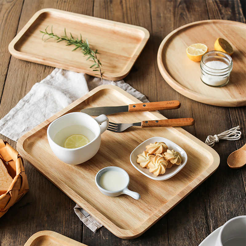 1 adet ahşap tepsi katı ahşap yemek tabağı dikdörtgen kahve çay kek tepsisi büyük ekmek yemek servis tepsisi mutfak ahşap mutfak eşyaları