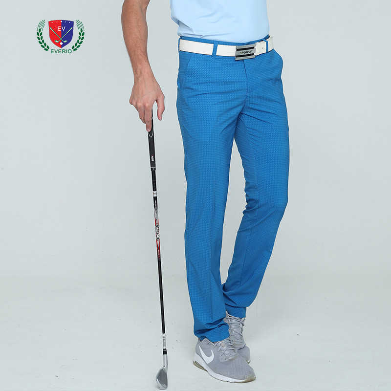New summer golf pants men brand long trousers quick dry sports pants for Korean style slim 5 colors breathable pants top quality цена