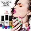 Bling 6ml Temperature Change Nail Gel Polish 30 Colors Soak Off UV LED Lamp  Colorful Shining Varnish Nail Tools Focallure