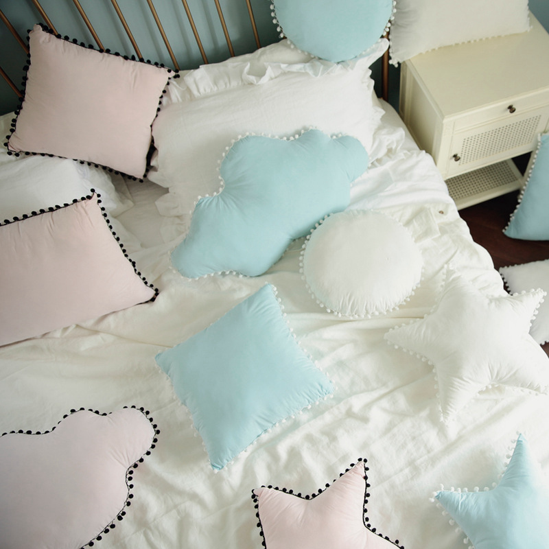 Lovely Star Clouds Plush Pillows Sky Series Stuffed Plush Toys Soft Cushion Sofa Square Pillow Home Bed Decoration Girl Gifts