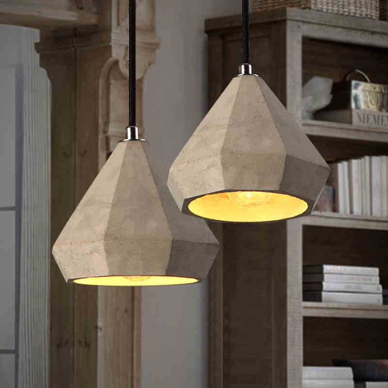 Nordic Style Loft Lamp Cement Pendant Lamp Retro Nostalgic Restaurant Lighting Cafe Bar Vintage Industrial Lights Droplight vintage loft industrial edison flower glass ceiling lamp droplight pendant hotel hallway store club cafe beside coffee shop