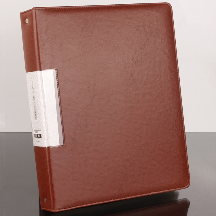 Pu Leather Information Book A4 Loose