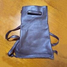Новинка 2017 года женщин рюкзак 100% из натуральной коровьей кожи темно-Кофе винтажные Вязание Повседневная сумка женский Рюкзаки