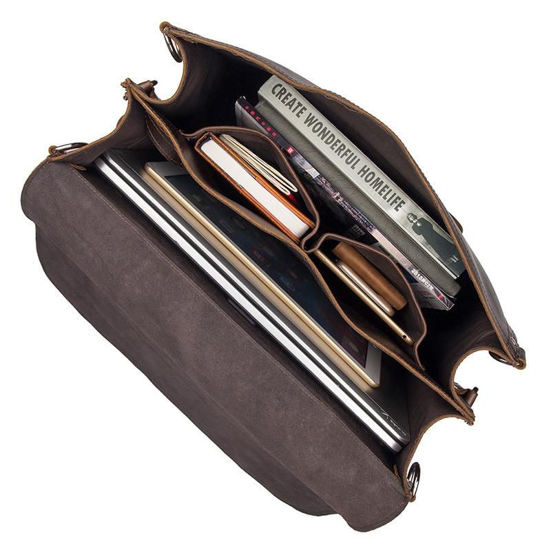 Мужской офисный портфель, толстый прочный, коровья кожа, Юнайтед дизайн, большой, для путешествий, 17 дюймов, для ноутбука, на плечо, через плечо, Tote, сумки, сумки - 6