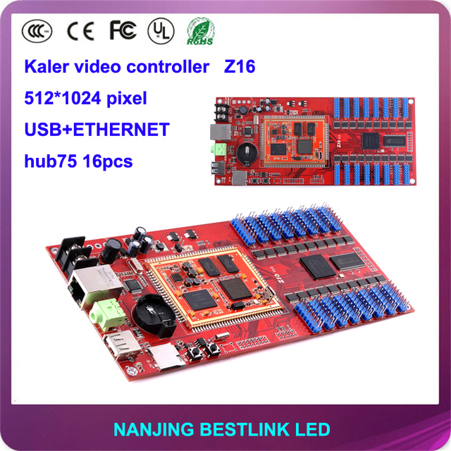 wholesale Kaler LED controller card Z16 full color led video control card 512*512 pixel for outdoor led screen led billboard