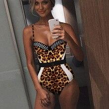 Пикантные один предмет женский Плавание костюм Змея с леопардовым принтом пляжный купальник ванный комплект купальники для Для женщин бикини