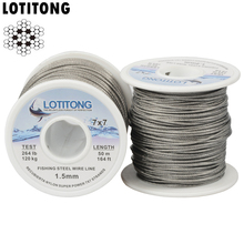 LOTITONG 70lb 368lb fishing steel wire Fishing lines 7x7 49 strands super soft wire lines Cover