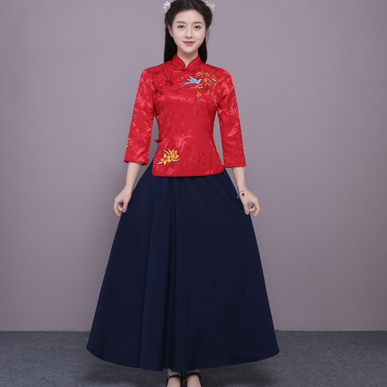 Brand New New Years Day Childrens Costumes Hanfu Girls Childrens Wear Stage Costumes Show Princess Guzheng Costumes Novelty & Special Use