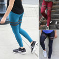Women Elastic Sports Trouser Yoga Mesh Workout Gym Leggings Jeggings Fitness Athletic pants