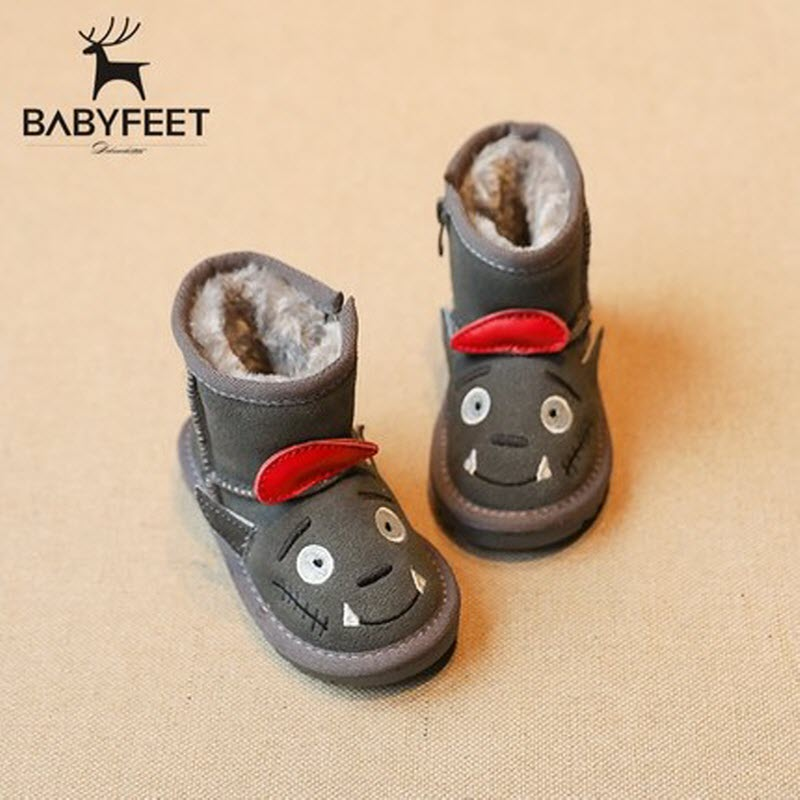 babyfeet winter fashion child girls boys snow Warm Plush high top children ankle enfants toddler shoes boots kids leather female 30 degree pu winter warm plush shoes fashion children s thick shoes girls high snow boot martin boots for kids accessories