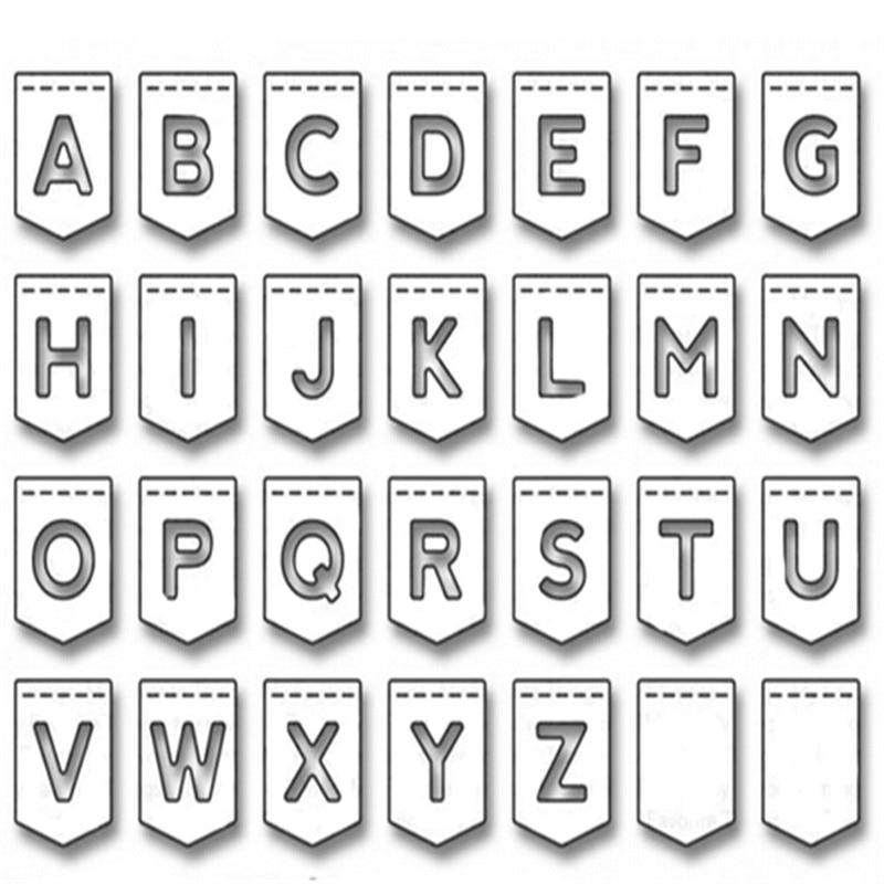Excellent 26pcs Metal Steel Alphabet Letter A-Z Cutting Dies Stencils Craft wr