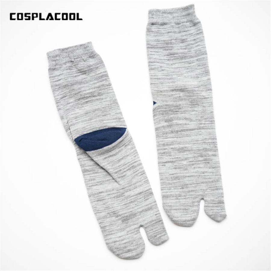 1 Pair Fashion Fall/Winter Japanese Kimono Flip Flop Sandal Split Toe Tabi Ninja Geta Clogs   Socks   Hot Sale 2017 New Arrival