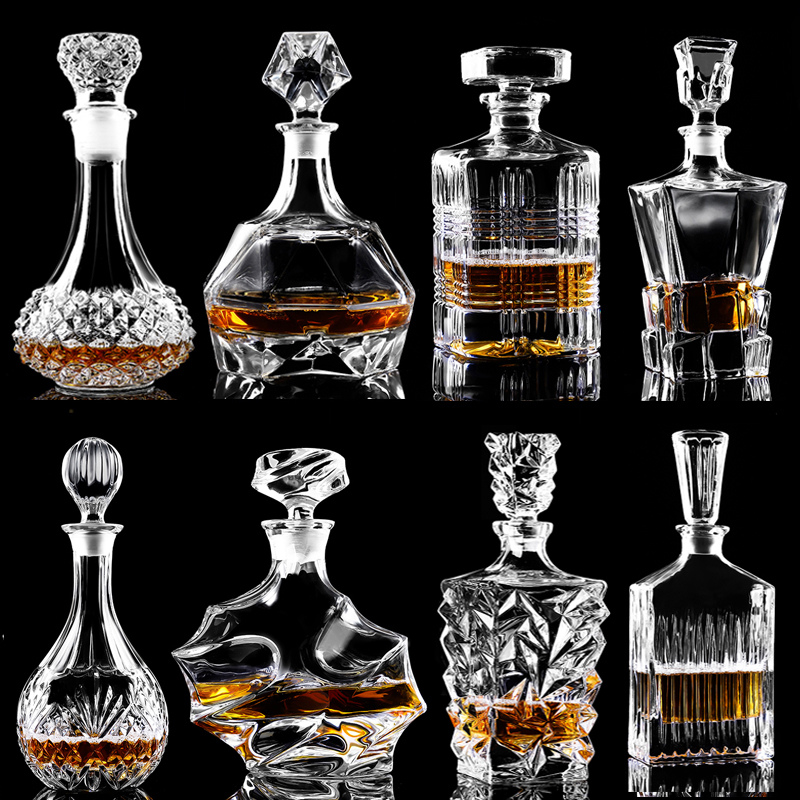 Garrafa de Vinho De Vidro cristal Vermelho + Copos de Vinho Pourer Decanter Whiskey Liqour Home Bar Vodka Garrafa de Cerveja Jarra Jarro JR
