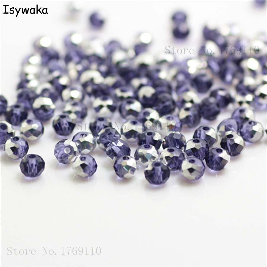 100% Quality Isywaka Green Golden Colors 4mm 145pcs Rondelle Austria Crystal Glass Beads Loose Faceted Round Beads Jewelry Making Beads & Jewelry Making