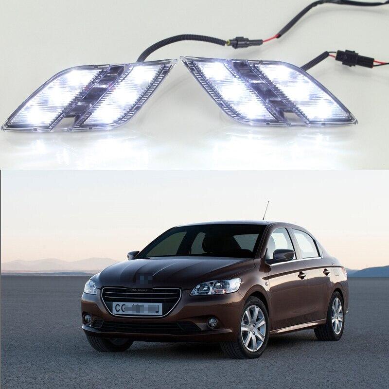 1 Set High Quality Daytime Running Light DRL For Peugeot 301 2014 2015