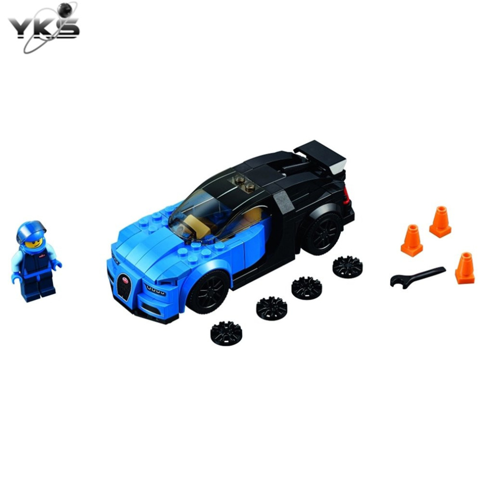 YKS DIY Toy Cars Kit Educational Toys Assembled puzzle Toys Car Blocks Plastic Bugatti Racing Car Vehicle Toys for Children Gift