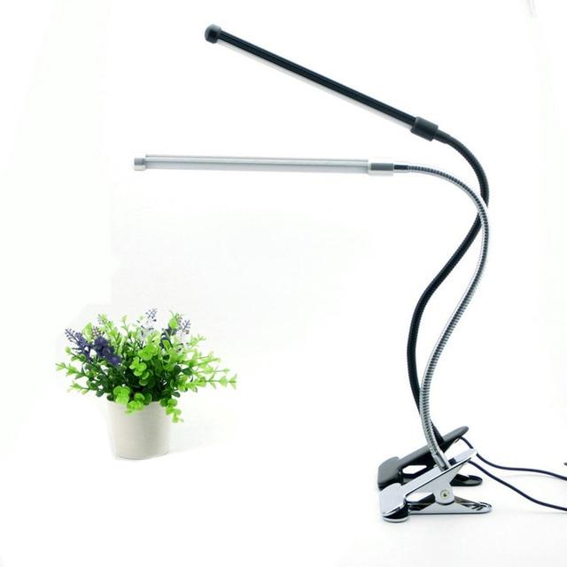 Светодиодные Настольная Лампа С Зажимом Защита Глаз US Plug Свет Стол с Белый и Теплый Белый Свет Гибкая Шея Свет Настольной Лампы