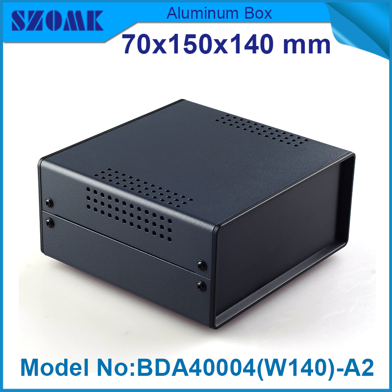 4 pcs /lot Black and white color electronic box for projects which with vents well used high quality housing electronics managing projects made simple