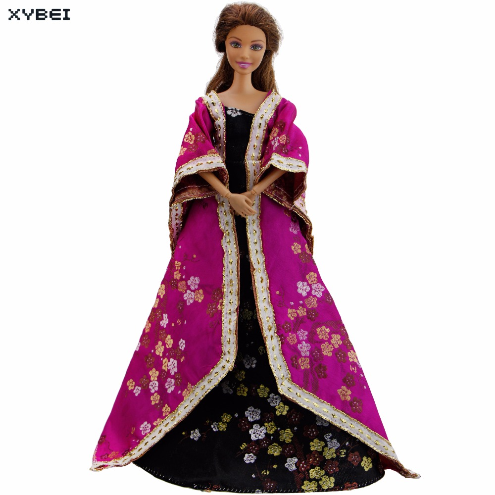Fashion Traditional Japanese Outfit Princess Sinicism Dress Classic Kimono Gown Clothes For Barbie Doll Dollhouse Kids Gift Toys