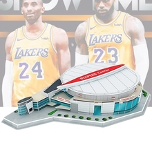 Classic Jigsaw 3D Puzzle Staples Center Basketball Game Stadiums Lakersings DIY Construction Bricks Toys Scale Models Sets Paper