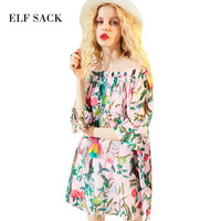 ELF SACK 2017 Summer Beach Dress Women Shivering Dresses