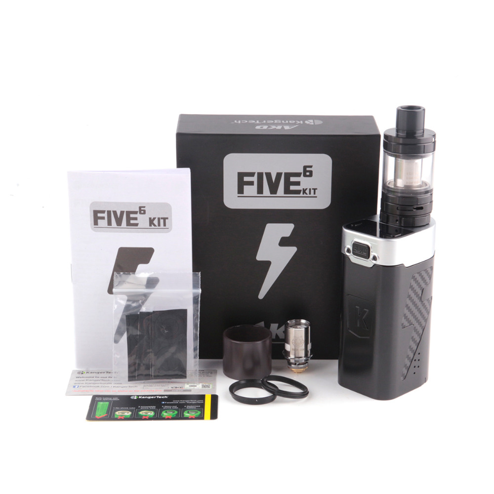Original Kanger AKD FIVE 6 Vape Kit with 8ml Subohm Tank 220W Box Mod Kangertech FIVE 6 E-Cigarettes vapor Hookah Fit Tiger Coil 100% original geekvape gbox mod 200w gbox squonker box mod vape fit 8ml squonk bottle support radar rda tank