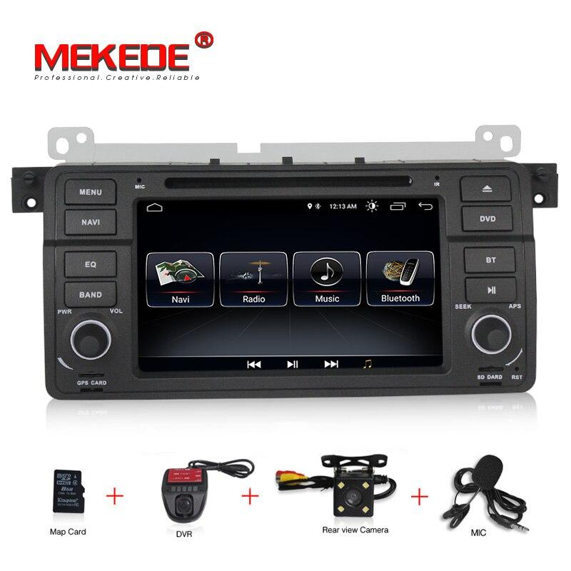 Livraison gratuite Android 8.1 Navigation voiture DVD GPS multimédia pour BMW E39 X5 E53 M5 M3 318 320 328 E46 avec BT/RDS/Radio/Canbus