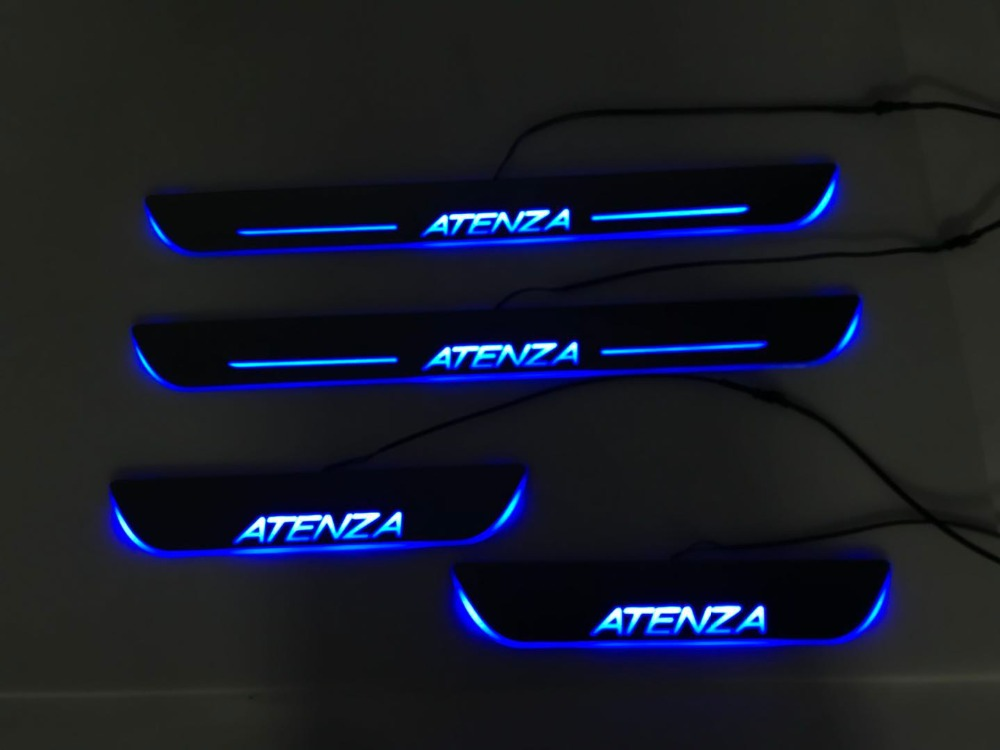 RQXR led moving door scuff for mazda 6 atenza dynamic door sill plate flat lining overlay