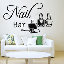 Art  Wall Sticker Nail Bar Decoration Vinyl Removeable Poster Modern Girls Women Room Mural Fashion Salon LY264
