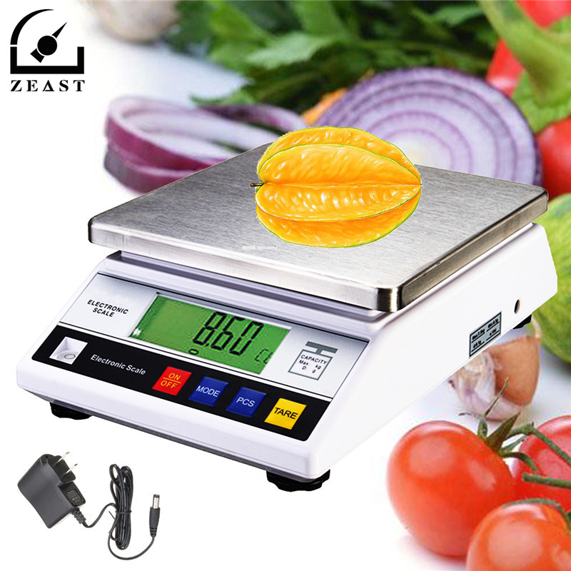 7 5kg Digital Electric Kitchen Scales Food Balance Scale Tare Function Bench Weight Stainless Steel In Weighing From Tools On Aliexpress