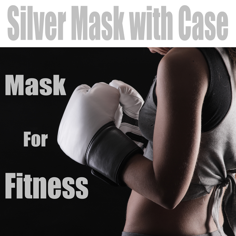 (Silver Mask with Carrying Case ) Phantom Training Fitness Mask MMA High Altitude Resistance Outdoor Sport Running Body Building 2016 newest elevation training mask 2 0 high altitude fitness outdoor sport 2 0 training mask	supplies equipment
