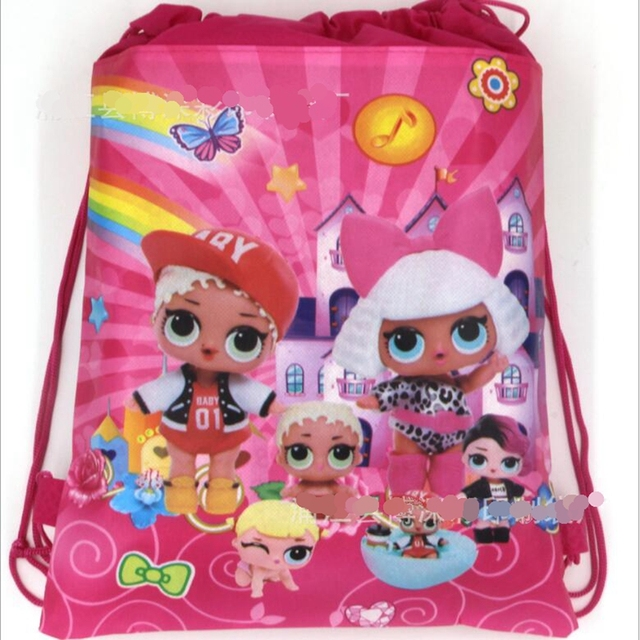 Cartoon Lol Dolls Cute Baby Storage Bag Non Woven Bag Glitter