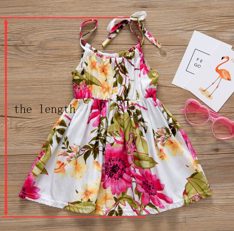 HTB1krWyy49YBuNjy0Ffq6xIsVXaL - Baby Girl Clothes Lace Up Floral Printed Cotton Children Toddler Girls Dresses Summer 2018 Casual Princess Teenage Kids Dress