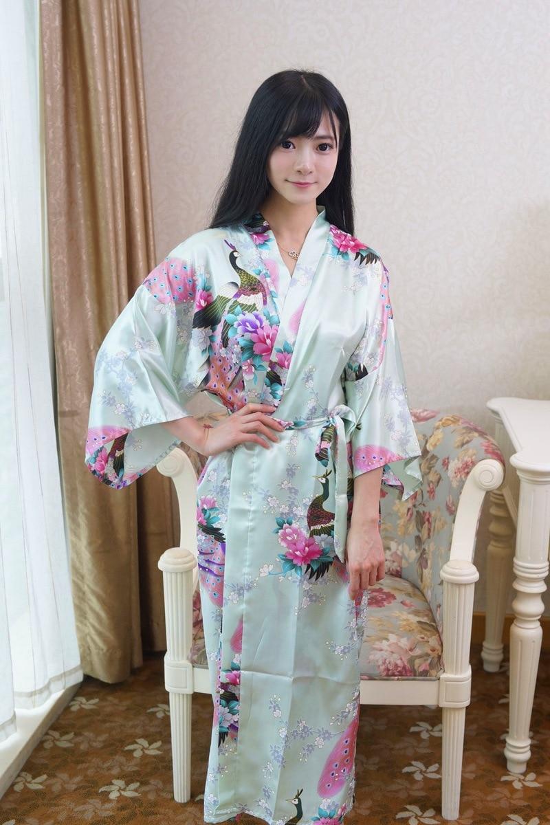 Compare prices on light green bridesmaid dress online shopping light green chinese lady bathrobe silk rayon long kimono bath gown bridesmaid wedding sexy nightgown dress ombrellifo Choice Image