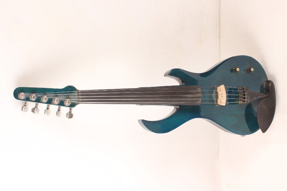 Hot Sale 5 String Electric Violin New 4 4 Flame Guitar Shape Solid