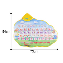 Купить с кэшбэком Musical Kids  Electronic Newborn Learning Educational Baby Toys Children Play Mats Playmat With Russian Language Alphabet Books