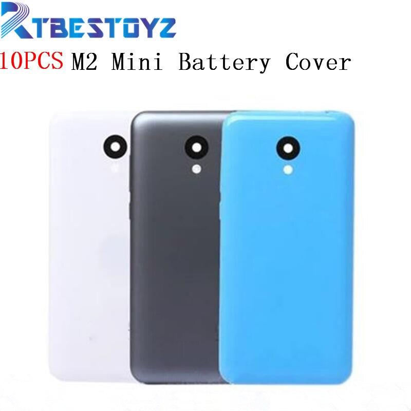 RTBESTOYZ 10 PCS/Lot nouvelle couverture arrière de batterie pour MEIZU M2 Mini boîtier avec objectif de caméra + boutons de Volume d'alimentation