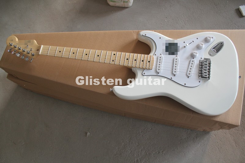 In Stock ST White Electric Guitar, Custom Shop Accepted OEM Guitarra