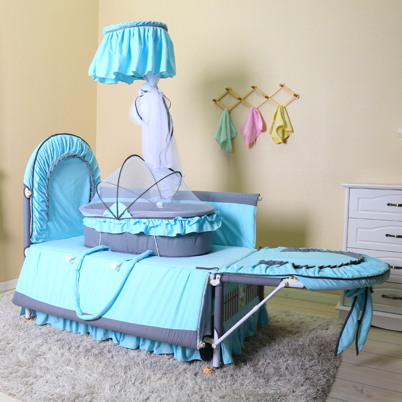 Baby bed ,Bed board two gears can be adjusted,0-6months baby convenient pickes up,1-3years old baby play space