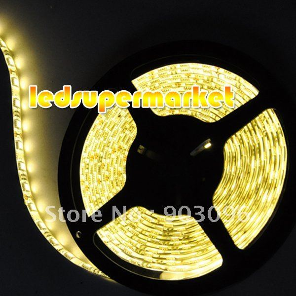 Free Shipping ! ! ! Warm white 5050 smd led strip 5M 300leds waterproof flexible led strip light