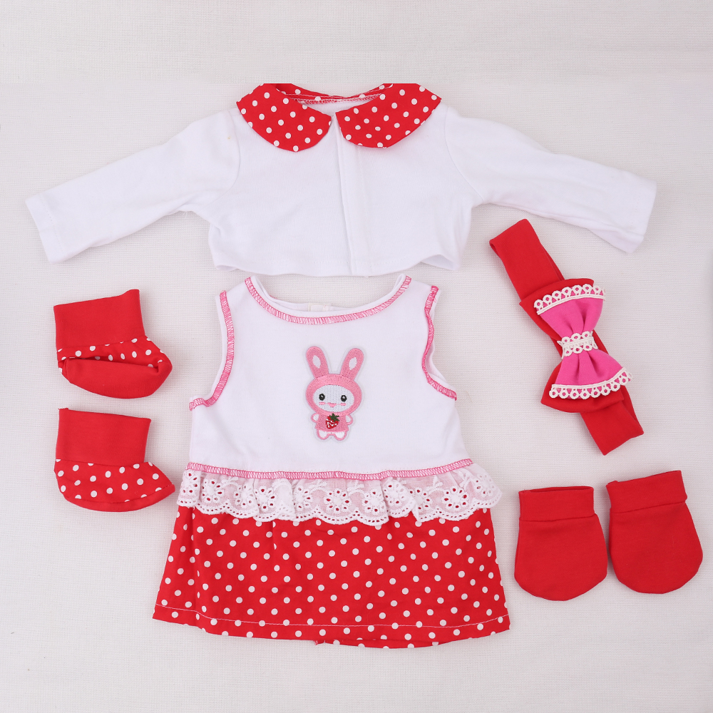 Doll Outfit Red Reborn Baby Clothes Infant Newborn Baby