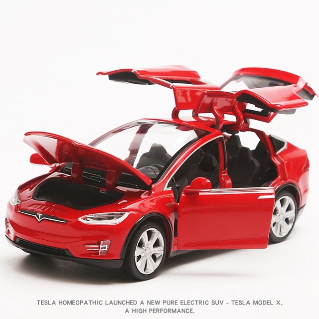 1 32 Tesla Modelx90 Kids Toys Car Model Limited Sale Pull Back