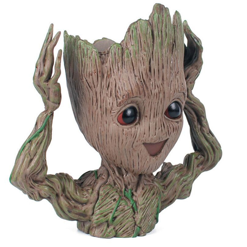 New Baby Guardians Of The Galaxy Plant Flower Pot Action Figure Drop Shipping Penholder Tree Men Creative Craft Figurine Macetas