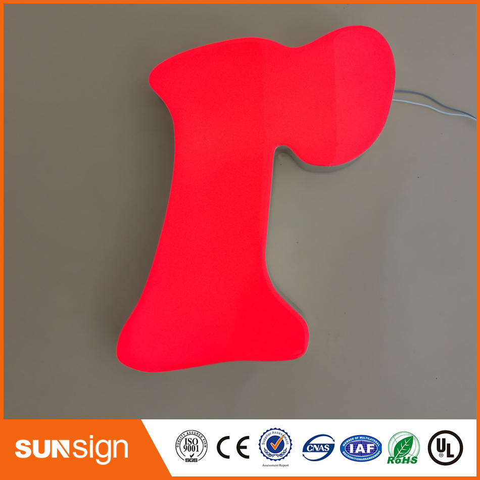 Super Quality Best-selling Led Backlit Resin Letter Signs